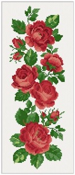 click here to view larger image of Rose Border (chart)