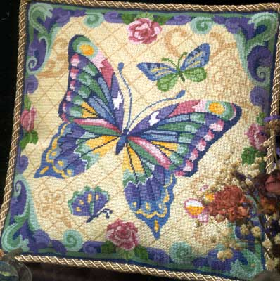 click here to view larger image of Fantasy Butterfly (needlepoint)