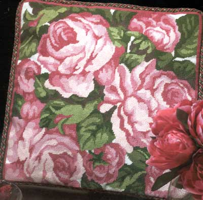click here to view larger image of Cabbage Roses Needlepoint  (needlepoint)