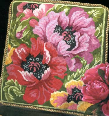 click here to view larger image of Poppies in Bloom (needlepoint)