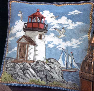 click here to view larger image of Coastal Lighthouse (needlepoint)