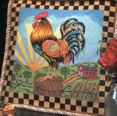 click here to view larger image of Sunrise Rooster (needlepoint)
