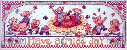 click here to view larger image of Have a Mice Day (counted cross stitch kit)