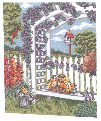 click here to view larger image of Garden in Bloom (needlepoint)