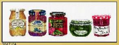 click here to view larger image of Jam, Jelly, Jam - Aida (counted cross stitch kit)