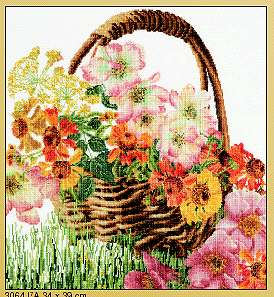 click here to view larger image of Summer Basket - Aida (counted cross stitch kit)