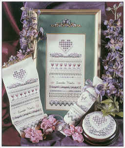 click here to view larger image of Lavender Hearts (chart)