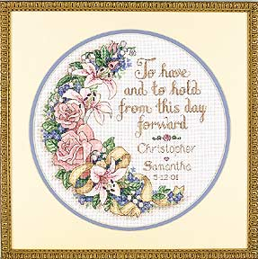 click here to view larger image of To Have and to Hold (Wedding Record) (counted cross stitch kit)