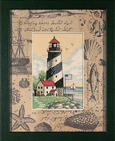 click here to view larger image of Light at Sea - Matted Accents (counted cross stitch kit)