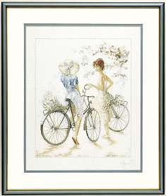 click here to view larger image of Bicycle Girls - 30ct (counted cross stitch kit)
