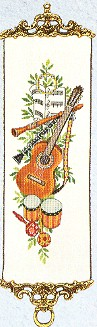 click here to view larger image of Guitar Bellpull (counted cross stitch kit)