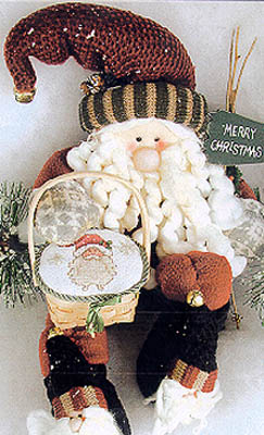 click here to view larger image of Gift Basket Santa (chart)