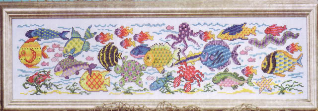 click here to view larger image of Tropical Fish (counted cross stitch kit)