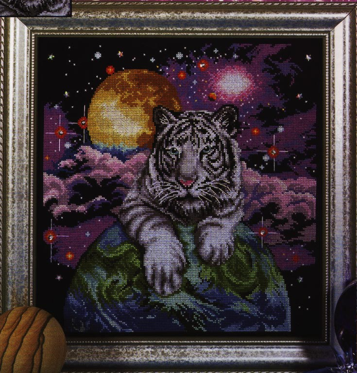 click here to view larger image of Tiger of the Heavens (counted cross stitch kit)