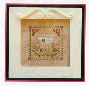 click here to view larger image of Spiced Tea  (with Silks) (counted cross stitch kit)