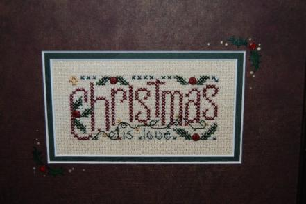 click here to view larger image of Christmas  Is Love (counted cross stitch kit)