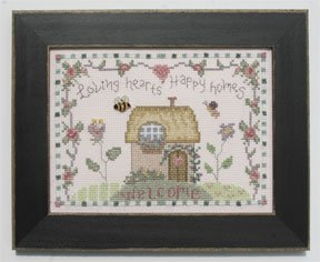 click here to view larger image of Welcome Home Calendar Series February - Loving Hearts (counted cross stitch kit)