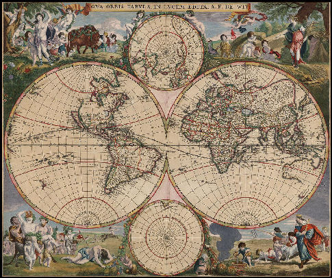 click here to view larger image of Old World Map (chart)