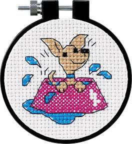 click here to view larger image of Perky Puppy - Learn A Craft (counted cross stitch kit)