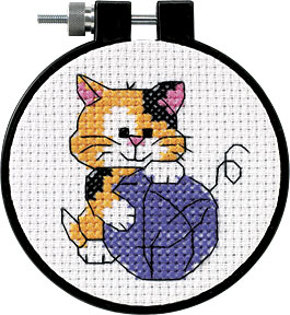 click here to view larger image of Cute Kitty - Learn A Craft (counted cross stitch kit)