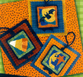 click here to view larger image of Halloween Hang Ups 1 - Punchneedle w/fabric (Punchneedle)