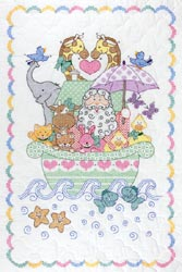 click here to view larger image of Noah's Ark  Quilt Crib Top  (stamped cross stitch)