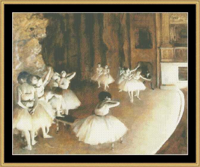 click here to view larger image of Ballet Rehearsel on Stage - Degas (chart)