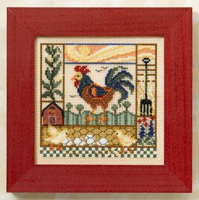 click here to view larger image of Barnyard Morning (2008) (button-bead kit)