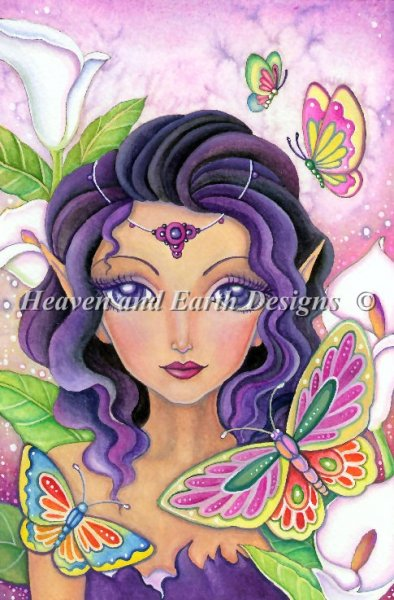 click here to view larger image of Merbutterfly Fairy Freedom - Quick Stitch (chart)