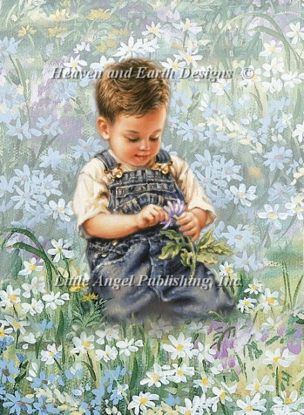 click here to view larger image of Boy With Daisies (chart)