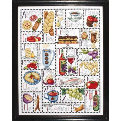 click here to view larger image of Gourmet ABC (counted cross stitch kit)