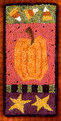 click here to view larger image of Tall Pumpkin (Punchneedle w/ printed fabric) (Punchneedle)