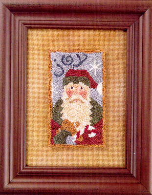 click here to view larger image of Joy Santa 07  (Punchneedle w/ printed fabric) (Punchneedle)