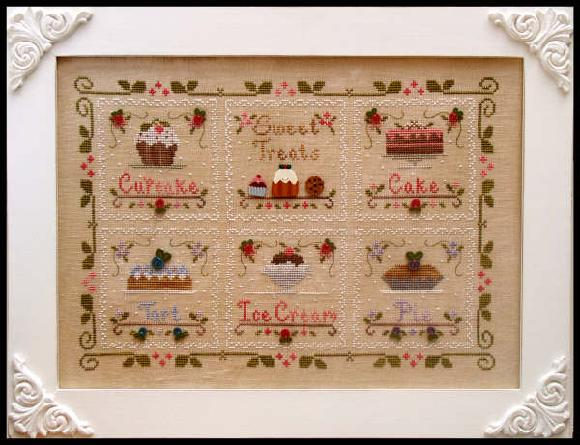 click here to view larger image of Sweet Treats  Border (with threads and buttons) (counted cross stitch kit)