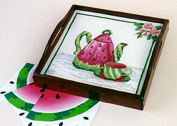 click here to view larger image of Watermelon Teapot (chart)