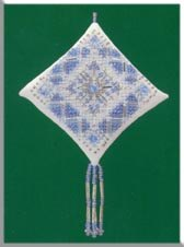 click here to view larger image of Ice Blue Snowflakes (counted cross stitch kit)