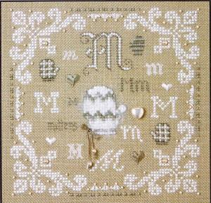 click here to view larger image of M is for Mittens (counted cross stitch kit)