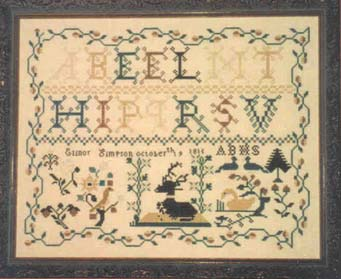 click here to view larger image of Elinor Simpson 1815 Sampler (chart)