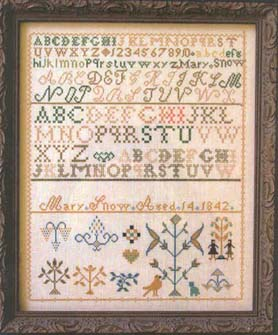 click here to view larger image of Mary Snow 1842 Sampler (chart)