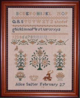 click here to view larger image of Alice Salter Sampler (chart)