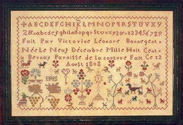 click here to view larger image of Victorine Bonnegent 1808  Sampler (chart)