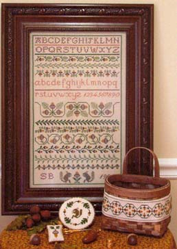 click here to view larger image of Acorn Harvest Sampler & Accessories w/Charm (chart)