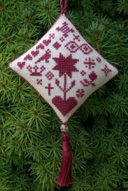 click here to view larger image of Christmas Redwork 2002 Ornament (chart)