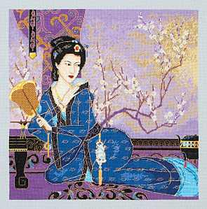 click here to view larger image of Lady with Fan (counted cross stitch kit)