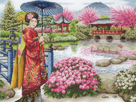 click here to view larger image of Japanese Garden, The (counted cross stitch kit)