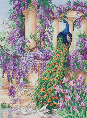 click here to view larger image of Peacock, The (counted cross stitch kit)