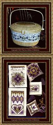 click here to view larger image of Nantucket Violets Basket & toys (chart)