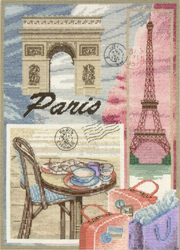 click here to view larger image of Paris (counted cross stitch kit)