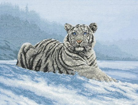click here to view larger image of Siberian Tiger (counted cross stitch kit)