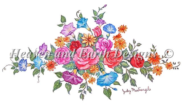 click here to view larger image of Flower Bouquet - Petit Point  (chart)